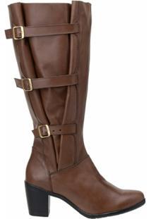 Bota Atron Shoes Fashion 9062 Brandy - Feminino-Marrom