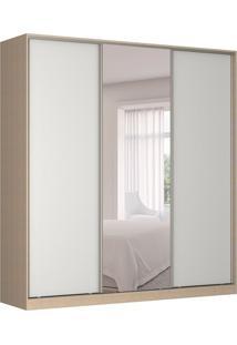 Guarda-Roupa Casal Com Espelho Tunas Iii 3 Pt 3 Gv Noce E Branco