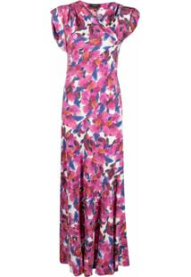 Isabel Marant Vestido Longo Com Estampa Floral - Rosa
