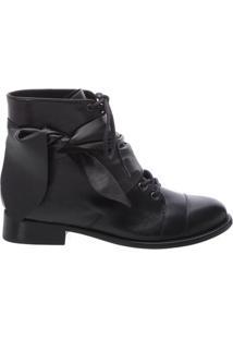 Coturno Leather Lace Black | Schutz