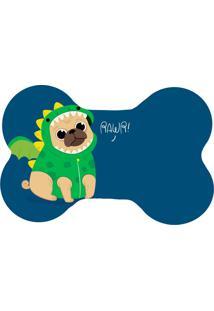 Tapete Love Decor Wevans Pet Pug Dragão Azul