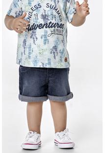 Bermuda Jeans Bebê Menino Em Tecido De Algodão Puc [] []