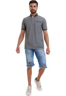 Bermuda Versani Jeans Rasgada