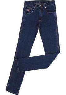 Calça Jeans Dock'S Tradicional Masculina - Masculino-Azul Escuro