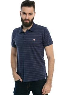 Camisa Polo D'Affari Listrada Com Abertura Lateral - Masculino