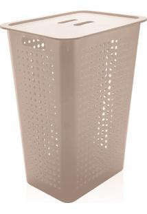 Cesto De Roupa De Plástico Ou Bege 47L - 27570