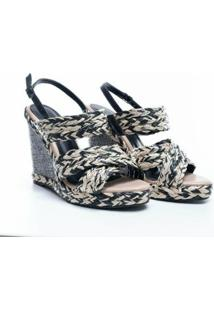 Sandália Plataforma Glendale - Feminino-Preto