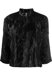 Comme Des Garçons Girl Embroidered Fitted Jacket - Preto