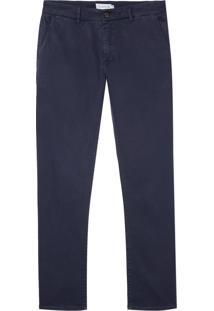 Calca Sarja Stretch Bolso Faca Essential (P19/V19 Azul Marinho, 44)