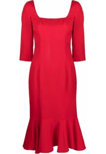L'Autre Chose Vestido Godê - Vermelho