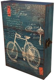Porta Chaves Caixa Decorativa Bicicleta - 6 Ganchos