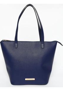 Bolsa Com Tag- Azul Marinho- 25X33X12Cmloucos E Santos