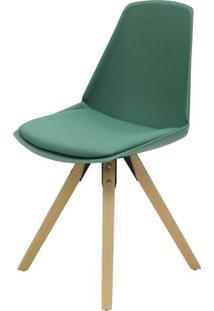 Cadeira Bomtempo Polipropileno Verde Base Madeira - 40910 Sun House