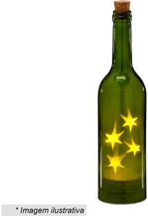 Garrafa Decorativa Com Luz- Verde & Amarela- 28,5Xã˜7Mabruk