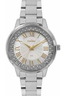 Relógio Condor Feminino - Feminino-Prata