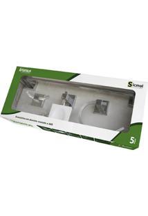 Kit Para Banheiro Kromus Com 5 Peças Cromado