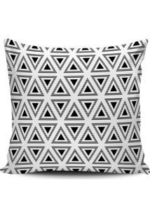 Capa Almofada Decorativa Geometrica Preto E Branco 45X45Cm