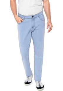 Calça Jeans Dudalina Reta Básica Azul