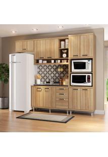 Cozinha Compacta Sem Tampo 4 Peças 5828-S14 Sicília - Multimóveis - Argila Acetinado