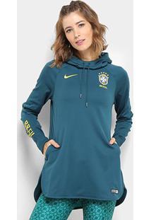 Moletom Seleção Brasil 19/20 Nike Hoodie Capuz Feminino - Feminino