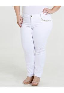 Calça Feminina Sarja Tachas Plus Size Marisa
