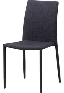Cadeira Indonesia Estofada Tecido Sintetico Marrom - 30747 Sun House