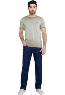 Calça Latifundio Jeans Reta Masculina - Masculino-Azul