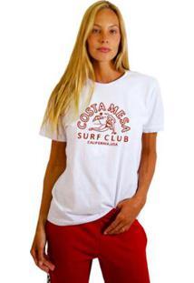 Camiseta Joss Feminina Estampada Costamesa - Feminino-Branco