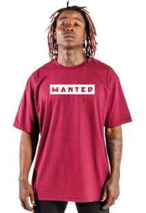 Camiseta Wanted Custom Box Logo Bordô