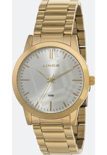 Kit Relógio Feminino Lince Lrg4554L-Kv01S1Kx Analógico 5Atm + Conjunto Semijóia