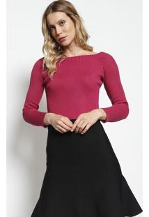 Blusa Em Tricô Com Tag - Pink - Dudalinadudalina
