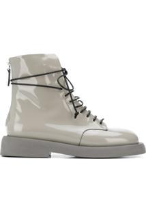 Marsèll Ankle Boot Envernizado - Cinza