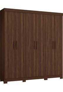 Guarda-Roupa Casal 6 Portas Amarok-Móveis Albatroz - Cedro