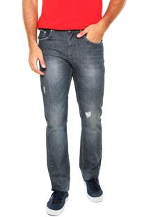 Calça Jeans Lacoste Skinny Lisa Azul-Marinho