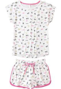 Pijama Curto Estampado Malwee Liberta