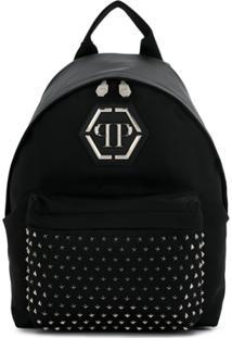 Philipp Plein Logo Backpack - Preto