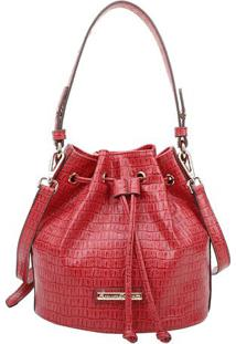 Bolsa Saco Texturizada- Vermelha & Dourada- 23X23X16Fellipe Krein