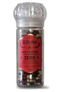 Pimentas Mix Pepper Pote De Vidro Moedor Reutilizável-52G - Unissex