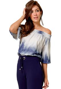 Blusa Mx Fashion Tie Dye Carmecita Azul