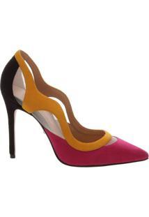 Scarpin Com Recortes- Pink & Amareloschutz