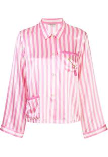 Morgan Lane Blusa De Pijama Ruthie Listrada - Rosa