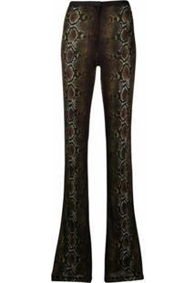 Versace Calça Com Estampa Pele De Cobra - Marrom