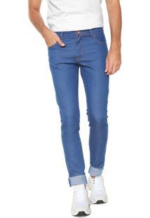 Calça Jeans Coca-Cola Jeans Slim Pespontos Azul