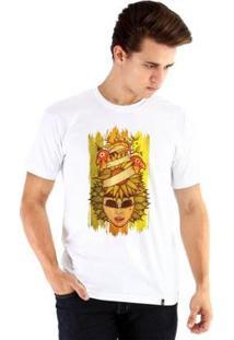 Camiseta Ouroboros Manga Curta Sunflower Of Love - Masculino-Branco
