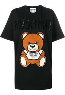 Moschino Logo T-Shirt Dress - Preto