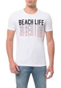 Camiseta Ckj Mc Estampa Beach Life Branca Camiseta Ckj Mc Estampa Beach Life - Branco 2 - P