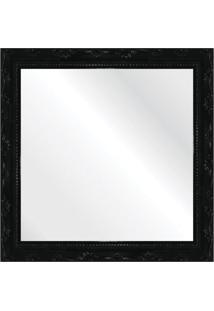 Espelho Brilho Rococo Preto 31X31Cm