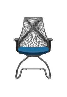 Cadeira Office Bix Aproximação Assento Azul 94Cm - 62735 Azul