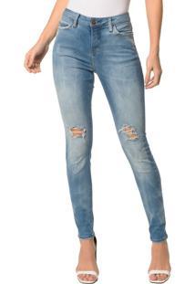 Calça Jeans Five Pocktes Super Skinny Ckj 001 Super Skinny - Azul Médio - 38