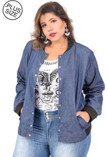 Jaqueta Uvx Bomber Plus Size Jeans